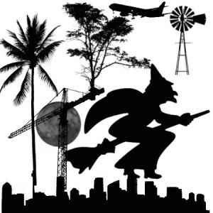 brushes5452 300x300 Ксить для фотошопа   Баба яга, ведьма над ночным городом