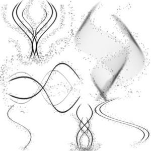 brushes5463 300x300 Кисть для фотошопа   Магические спирали