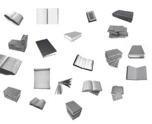 brushes5538 300x244 Кисть для фотошопа   Разбросанные книги