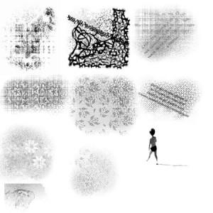 brushes5549 300x300 Кисть для фотошопа – Потёртый цветочный узор стены