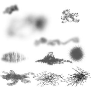 brushes5555 300x300 Кисть для фотошоп   Grunge textures