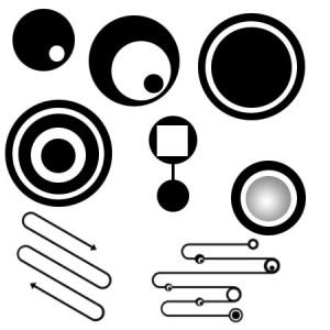 p i b circles 300x300 Кисть для фотошопа   Векторные круги