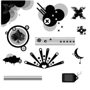 p i b misc 300x300 Кисти для фотошопа   Векторные шары, кресты, пики, фигуры для оформления