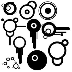 vectorcircletcomp 300x300 Кисть для фотошопа   Ключи, векторные круги