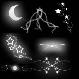 zvezda 300x300 Кисть для фотошопа   Сказочное звездное оформления ночного неба